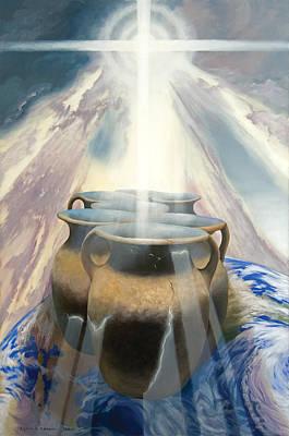 Forgiveness Painting - Shining Pots by Lynn Hansen