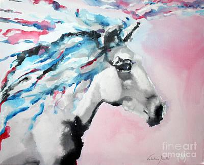 Barn Painting - Shining Star - Horse Art By Valentina Miletic by Valentina Miletic