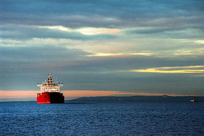 Water Vessels Photograph - Ship - Anchored On The Edge Of Light by Gary Heller