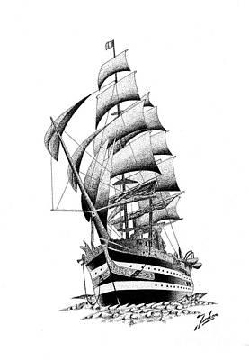 Ship Print by Joker Gallery