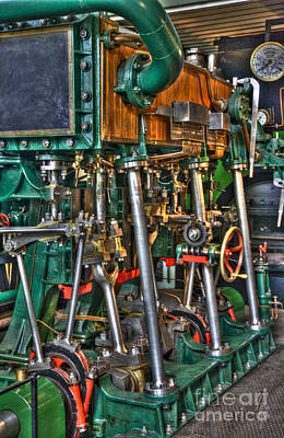 Technical Photograph - Ship Engine by Heiko Koehrer-Wagner