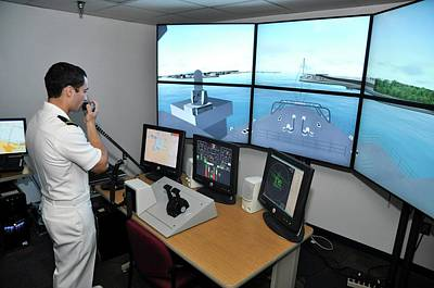 Reality Photograph - Ship Handling Simulator by Us Air Force/nathanael Miller