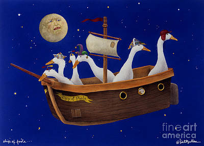 Fool Painting - Ship Of Fools... by Will Bullas