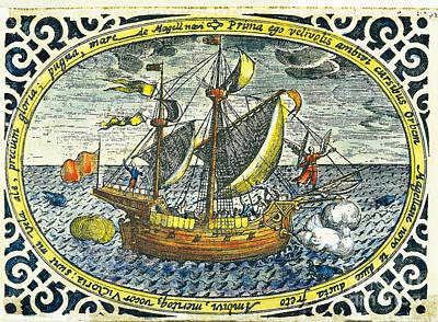 Ship Of Magellan Print by Akg