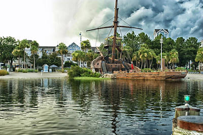 Ship Wrecked At The Disney Yacht And Beach Club Resort Print by Thomas Woolworth