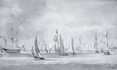 Shipping In The Thames Print by John Constable