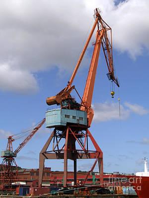 Grapple Photograph - Shipping Industry Crane 06 by Antony McAulay