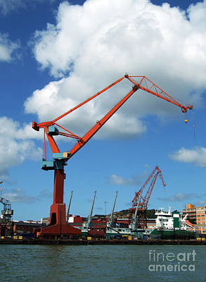 Grapple Photograph - Shipping Industry Crane 07 by Antony McAulay