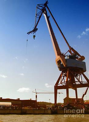 Grapple Photograph - Shipping Industry Dock by Antony McAulay