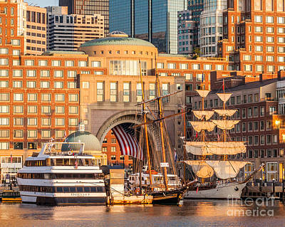 Ships At Rowes Wharf Print by Susan Cole Kelly