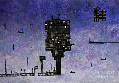 Rig Painting - Ships In The Night IIi by Andy  Mercer
