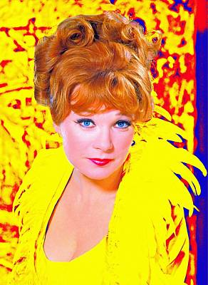 Redhead Mixed Media - Shirley Maclaine In What A Way To Go by Art Cinema Gallery