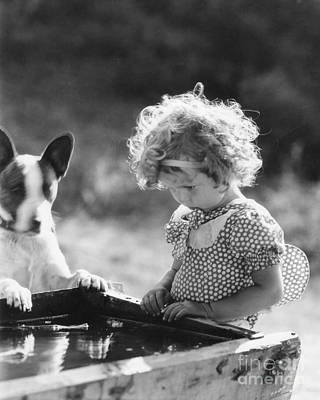 Shirley Temple Photograph - Shirley Temple And Dog by MMG Archives