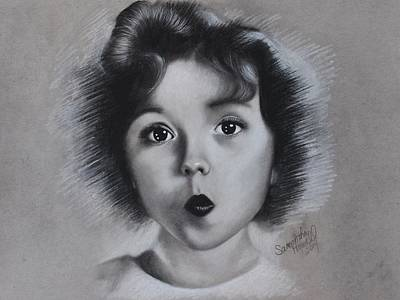 Shirley Temple Drawing - Shirley Temple by Samantha Howell