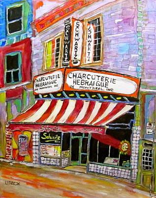 Litvack Painting - Shirley's Schwartz's  by Michael Litvack