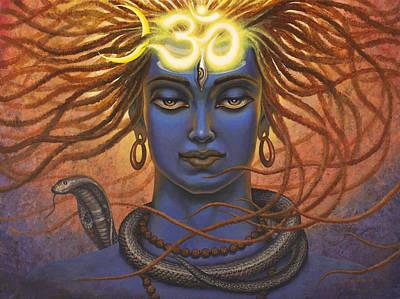 Cobra Painting - Shiva Om by Vrindavan Das