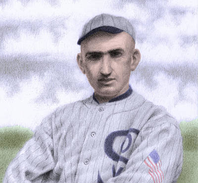 Chicago Baseball Drawing - Shoeless Joe by Steve Dininno