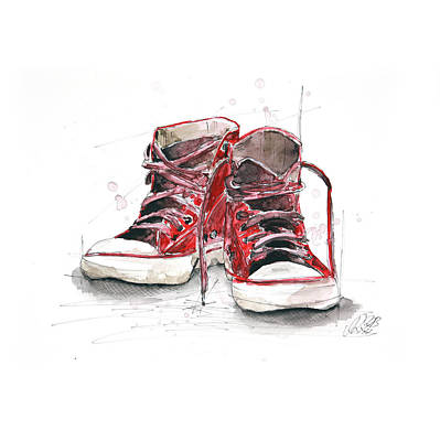 Shoes Print by Astrid Rieger