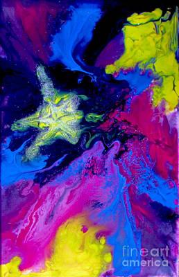 Shooting Star Print by Bozena Simeth