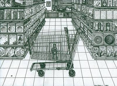 Shop And Slave Print by Richie Montgomery