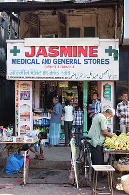 Drugstores Photograph - Shop In Dharavi Slum by Mark Williamson