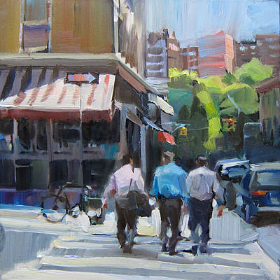 Intersection Painting - Shop Talk by Patti Mollica