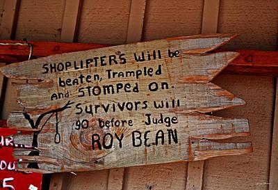 Shoplifters Warning 001 Print by George Bostian