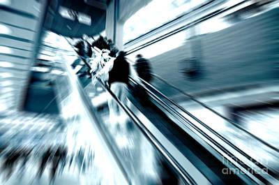 Dynamic Photograph - Shopping Center Rush by Michal Bednarek