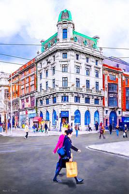 Europe Photograph - Shopping In Dublin Ireland by Mark E Tisdale