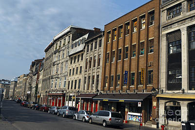 Que Photograph - Shops And Buildings Along Rue Saint-paul Old Montreal by Jason O Watson