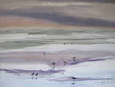 Painting - Shoreline Birds II by Julianne Felton