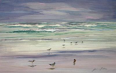 Painting - Shoreline Birds IIi by Julianne Felton
