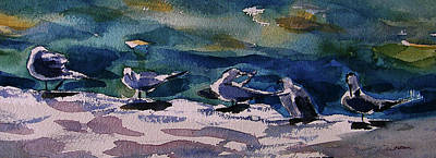 Painting - Shoreline Birds Iv by Julianne Felton