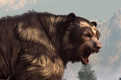 Short Faced Bear Print by Daniel Eskridge