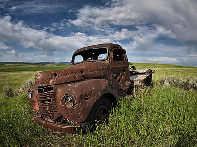 Old Truck Photograph - Shot Up by Leland D Howard