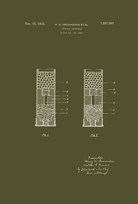 Shotgun Cartridge Patent Print by Mountain Dreams