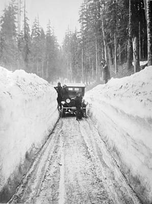 Ice-t Photograph - Shoveling Out From A Blizzard by Mountain Dreams