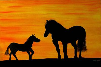 Horse Painting - Show Me The World by Diana Martinez