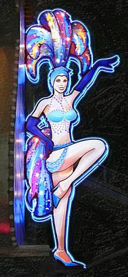 Showgirls Digital Art - Showgirl Neon by Ron Regalado