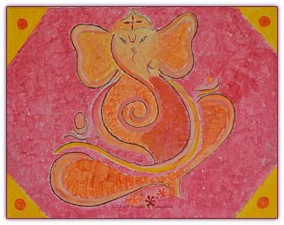 Vinayaka Painting - Shree Ganesh by Sonali Gangane
