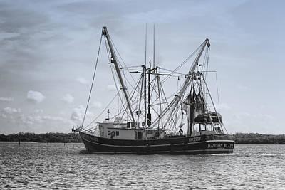 Shrimp Boat - Matanzas Pass Print by Kim Hojnacki