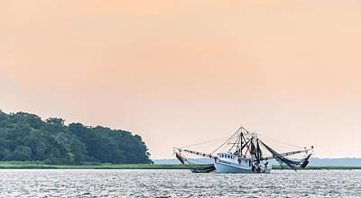 Shrimp Boat On The Edisto River - Fishing Boat Photograph Print by Duane Miller