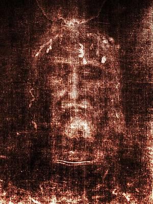Shroud Of Turin Print by Christian Art