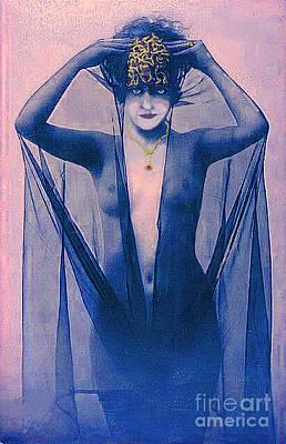 Shrouded Woman Print by Maureen Tillman