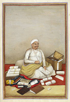 Accountant Photograph - Shudra Accountant by British Library