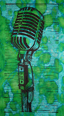 Lino Drawing - Shure 55s by William Cauthern