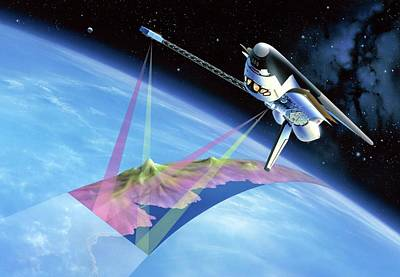 Imaging Radar Photograph - Shuttle Radar Topography Mission by Detlev Van Ravenswaay