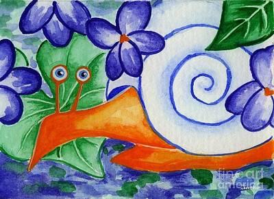 Painting - Shy Snail by Lori Ziemba