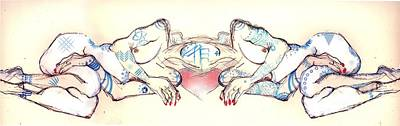 Twins Mixed Media - Siamese Twins by Carolyn Weltman
