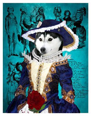 Siberian Husky Art Canvas Print - Baroness Print by Sandra Sij